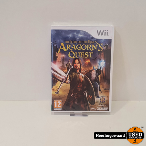Wii Game: Lord of the Rings Aragorn's Quest Nieuw in Seal