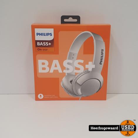 Philips SHL3075 | Bass+ | Wit | On Ear Koptelefoon | Nieuw | 2 Jaar Garantie