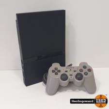 Playstation 2 Slim Zwart Compleet in Goede Staat