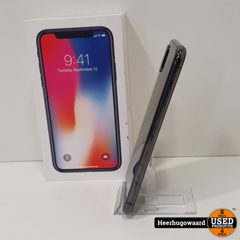 iPhone X 64GB Space Gray in Doos in Goede Staat - Accu 84%