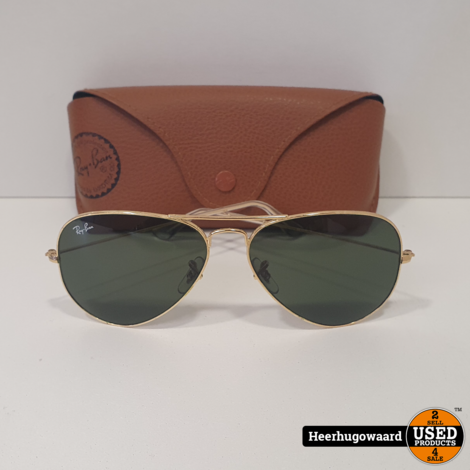 Ray-Ban RB3025 Aviator Zonnebril Goud in Nette Staat