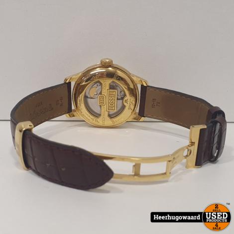 Tissot Le Locle Powermatic 80 Gold Skeleton Horloge in Zeer Nette Staat