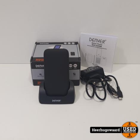 Denver Senior Flip Phone Bas-24200M Europe Compleet in Zeer Nette Staat