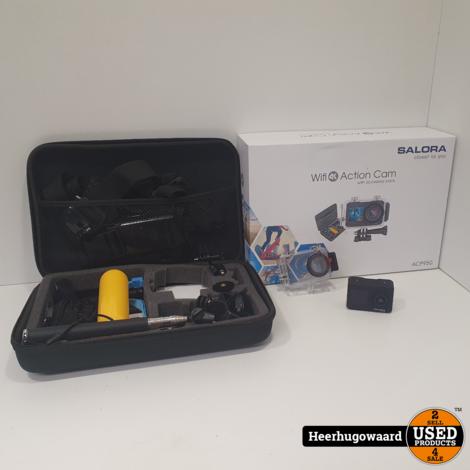 Salora ACP950 Wifi 4K Action Cam incl. Accessoires in Nette Staat