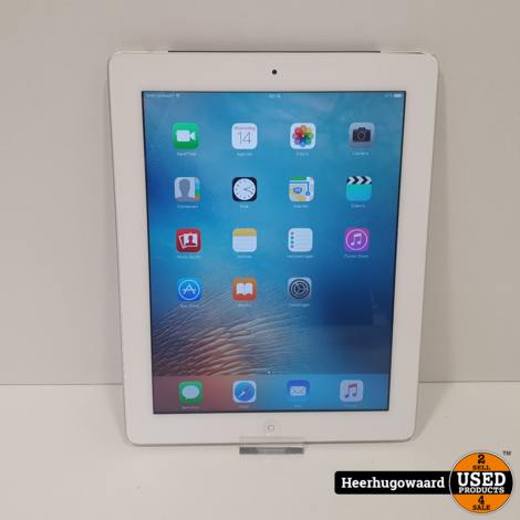 iPad 3 16GB Wifi + 3G Silver in Goede Staat