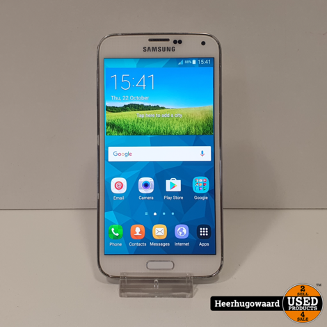 Samsung Galaxy S5 16GB White in Goede Staat