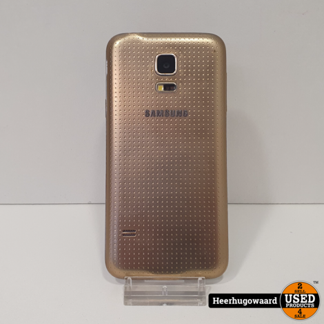 Samsung Galaxy S5 Mini 16GB Gold in Goede Staat