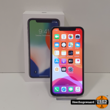 iPhone X 64GB Silver in Zeer Nette Staat - Accu 100%, Face ID Defect