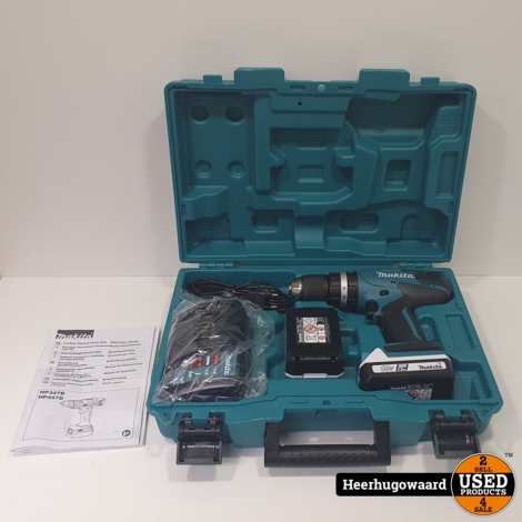 Makita HP457D 18V Schroeftol incl. 2x 1,5Ah Accu en Lader Nieuw in Koffer