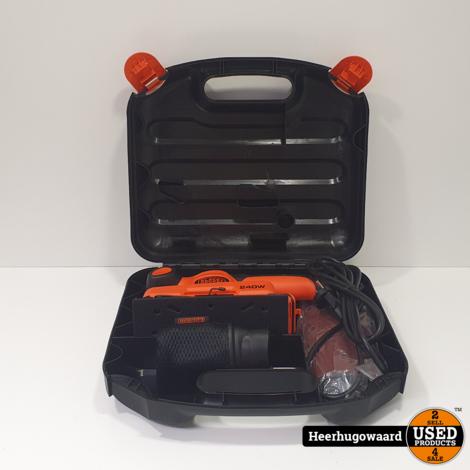 Black & Decker KA320E Schuurmachine Compleet in Koffer in Nieuwstaat