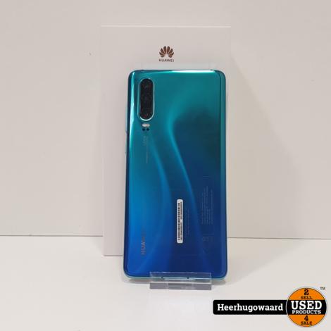 Huawei P30 128GB Aurora Blue in Zeer Nette Staat
