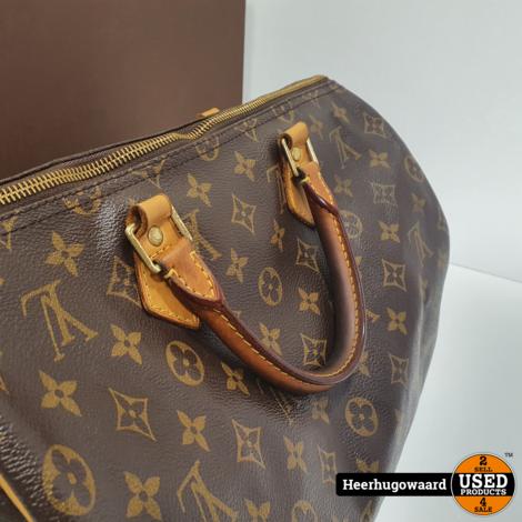 Louis Vuitton Speedy 35 Handtas Monogram in Nette Staat met Bon