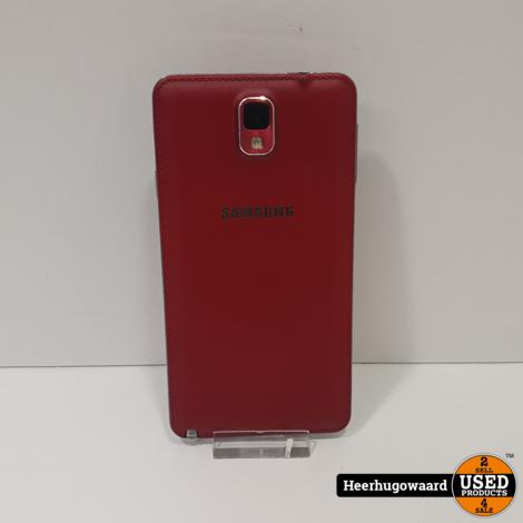 Samsung Galaxy Note 3 32GB Red in Zeer Nette Staat