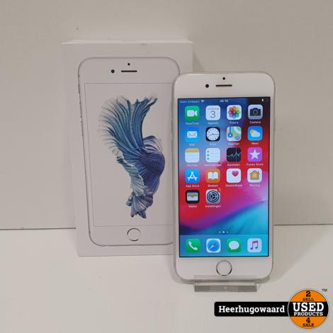 iPhone 6S 64GB Silver in Doos in Nette Staat - Accu 100%