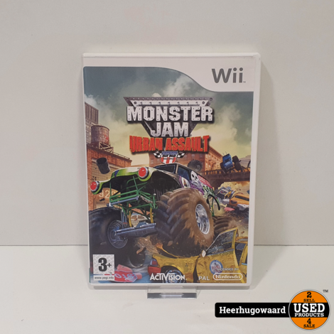 Nintendo Wii Game: Monster Jam Urban Assault
