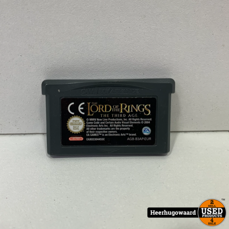 Gameboy Advance Game: Lord of The Rings The Third Age