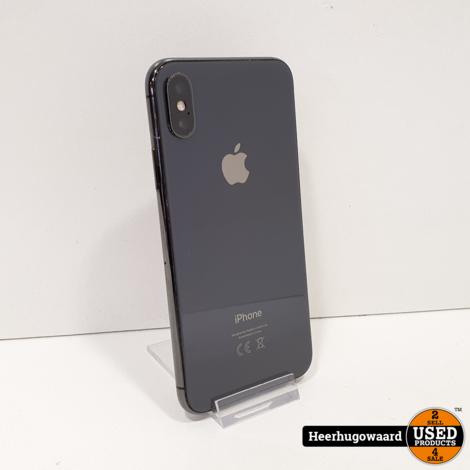 iPhone X 256GB Space Grey in Zeer Nette Staat - Accu 100%