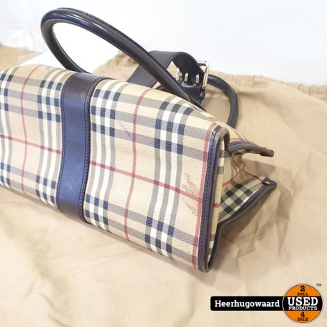 Burberry Haymarket Iden Nova Check Tote Handbag in Goede Staat