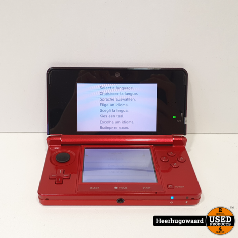 Nintendo 3DS Rood incl. Oplader in Goede Staat