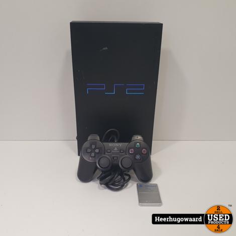 Playstation 2 Phat Zwart Compleet in Goede Staat