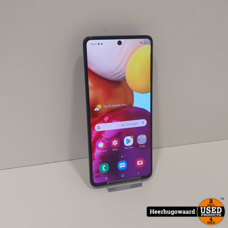 Samsung Galaxy A71 2019 128GB Black in Zeer Nette Staat