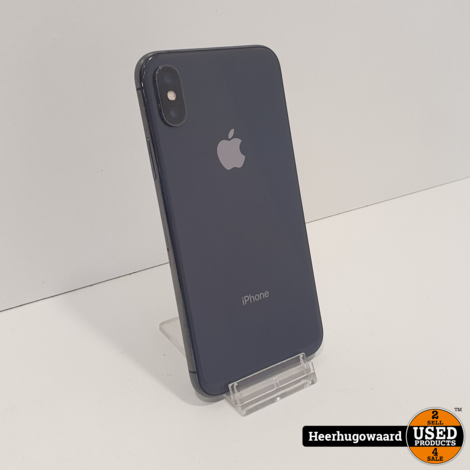 iPhone X 64GB Space Gray in Goede Staat - Accu 86%