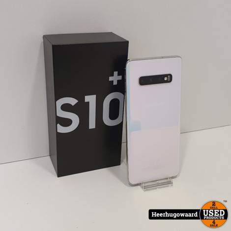Samsung Galaxy S10 Plus 128GB Prism White in Zeer Nette Staat