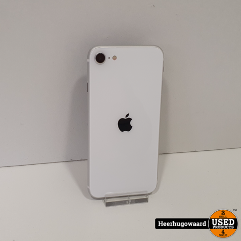 iPhone SE 2020 128GB Silver in Zeer Nette Staat - Accu 97%