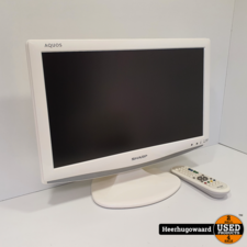 Sharp LC-19D1E-WH 19'' Monitor/TV HD Ready incl. AB in Goede Staat