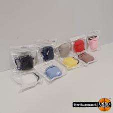 Silicone Hoesje voor Airpods 1/2 met Anti Lost Strap Diverse Kleuren Nieuw