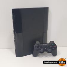 Playstation 3 Ultra Slim 160GB Black Compleet in Goede Staat