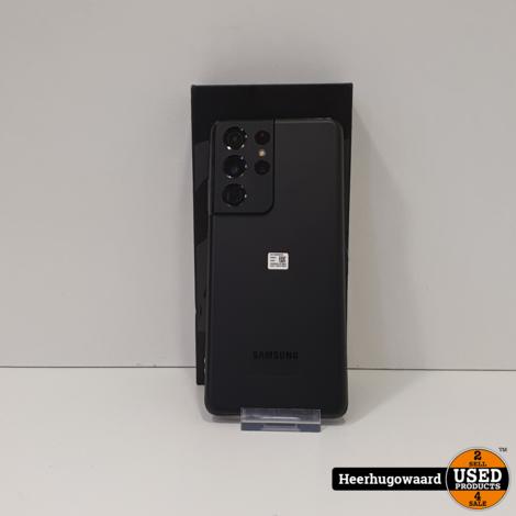 Samsung Galaxy S21 Ultra 5G 256GB Black ZGAN Compleet in Doos