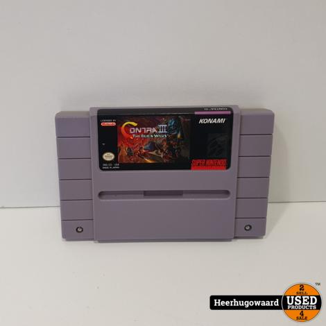 Nintendo SNES Game: Contra 3