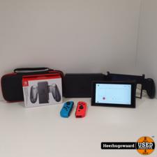 Nintendo Switch 2019 Red/Blue Compleet in Zeer Nette Staat