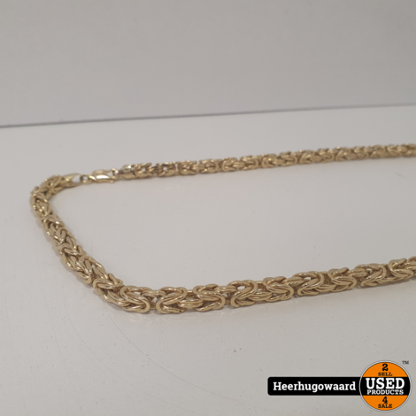 Gouden Koningsketting 14K 49Gr 65CM in Zeer Nette Staat