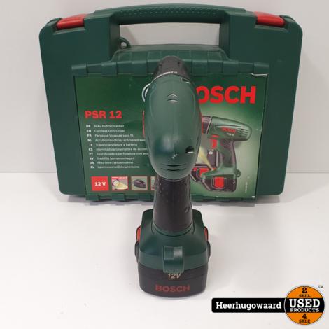 Bosch PSR 12 Accuboormachine Compleet in Doos in Nette Staat