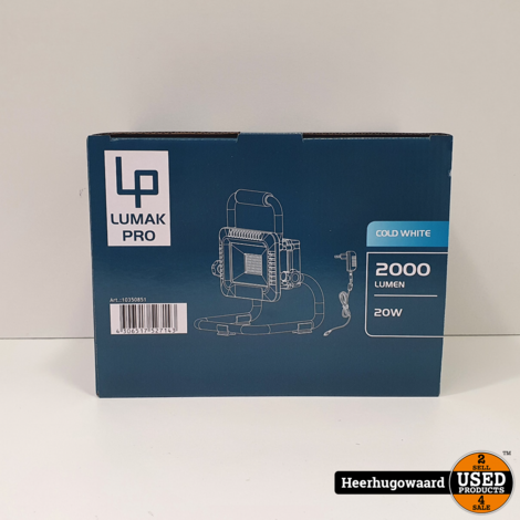 LUMAKPRO LED Accu Werklamp IP40 20W Nieuw in Doos