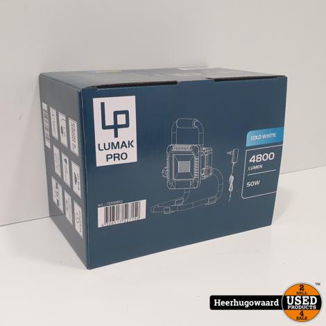 LUMAKPRO LED Accu Werklamp IP40 50W Nieuw in Doos