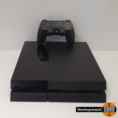 Playstation 4 500GB Zwart Compleet in Goede Staat