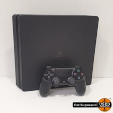 Playstation 4 Slim 1TB Zwart Compleet in Nette Staat
