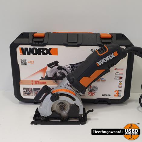 WorX WX426 Hand Cirkelzaag 500W incl. 3 Bladen in Nette Staat