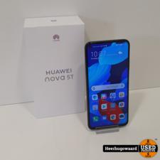 Huawei Nova 5T 128GB Zwart Compleet in Doos in Nette Staat