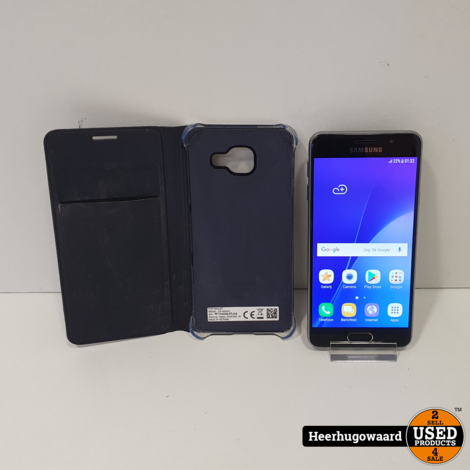 Samsung Galaxy A3 2016 16GB Black in Goede Staat