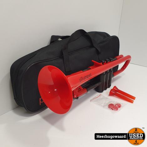pTrumpet Kunstof Trompet Rood Compleet in Zeer Nette Staat