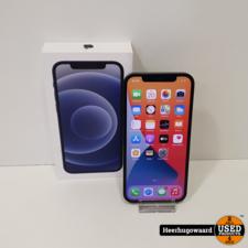 iPhone 12 128GB Black Compleet in Nette Staat van 02-07-2021