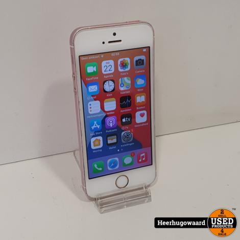 iPhone SE 16GB Rose Gold in Goede Staat - Accu 85%
