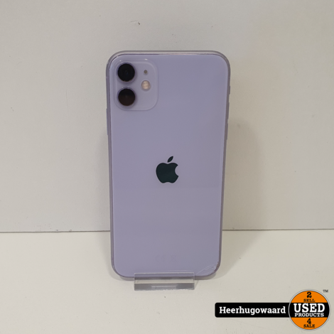 iPhone 11 64GB Purple in Gebruikte Staat - Accu 90%