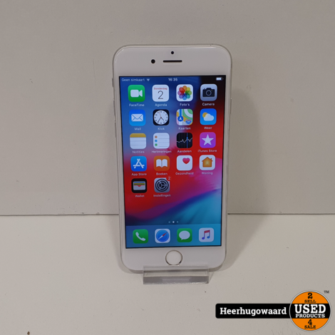 iPhone 6 16GB Silver in Nette Staat - Accu 100%