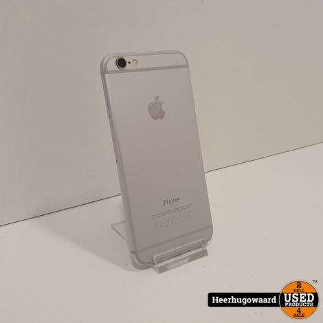iPhone 6 64GB Silver in Nette Staat - Accu 100%