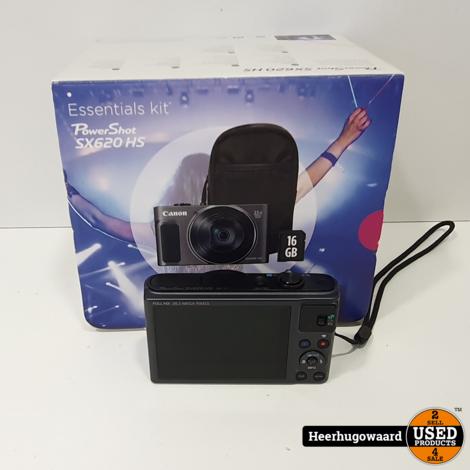 Canon Powershot SX620 HS Compact Camera Compleet in Zeer Nette Staat